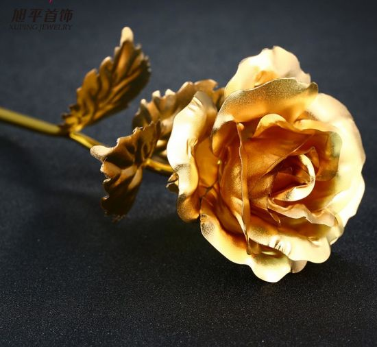 China Fashion Golden Rose Flower in 24k Gold Color Gifts for Mother