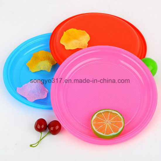 China Disposable Circular Blister Plate Creative Simple Candy Color ...
