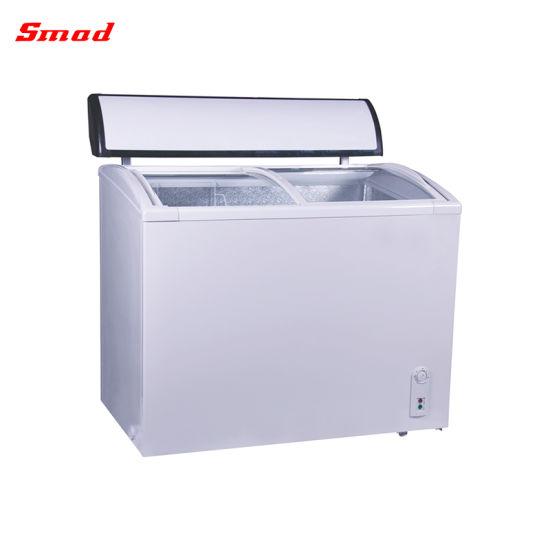 Sliding Glass Door Display Chest Freezer Ice Cream Freezer