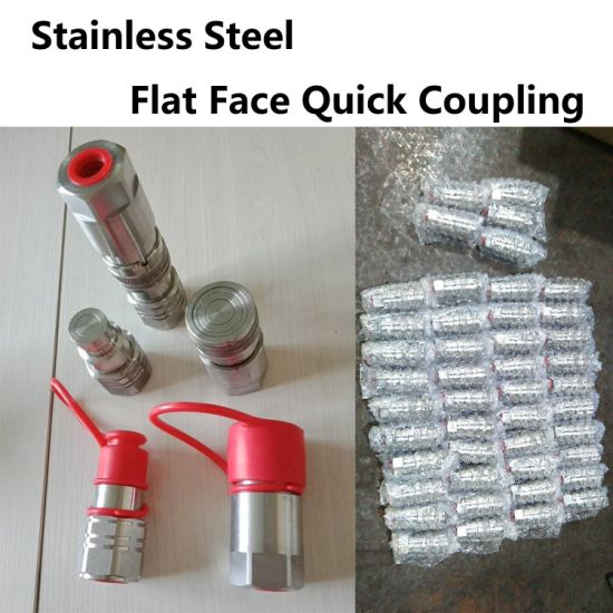 Factory Flat Face Quick Disconnects Coupling Double Shut off