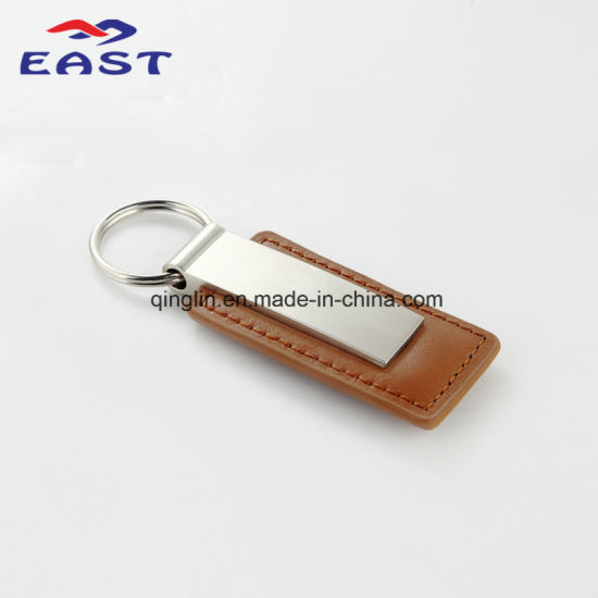 Best Seller Multicolor Rectangular Metal & Leather Key Chain pictures & photos