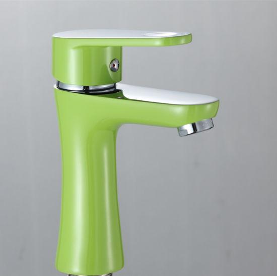 China Professional Single Handle Colourful Wash Basin Faucet - China ...