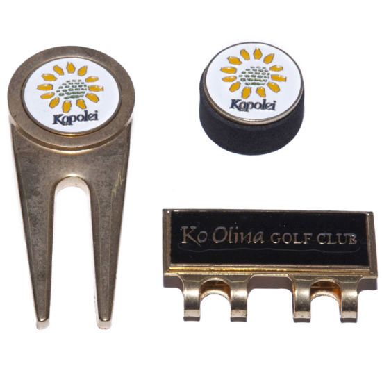 Golf Product Set -Divot Tool, Ball Marker and Hat Clip