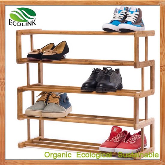 Bamboo Shoe Rack Shoe Organizer (EB-B4180) pictures & photos