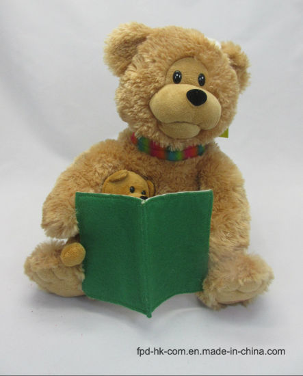 Christmas Valentine Halloween Animation Plush Toy Telling Bear pictures & photos