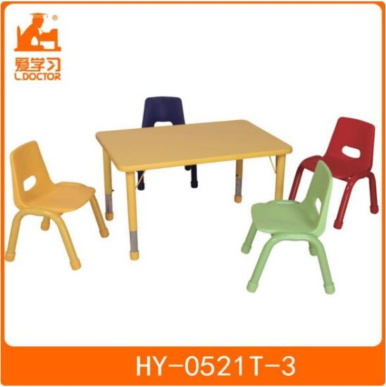 Wood Laminate Kindergarten Furniture Classroom Table with Chairs pictures & photos