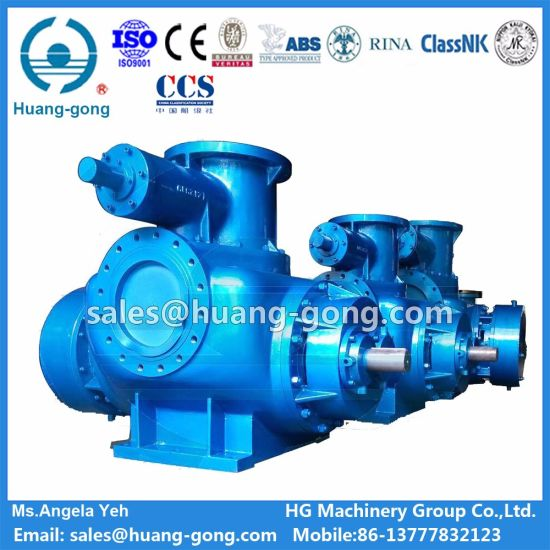 Cargo Oil Slop Pump Electric Motor Driven Twin-Screw Type