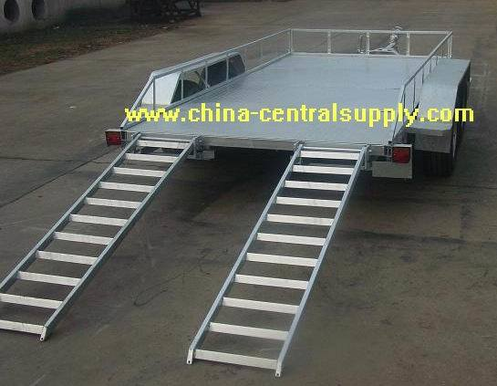 Manufacturer /Factory Supply Galvanized Hydraulic Brake 4.0X1.8m Car Carrier Trailer (CCT010B) pictures & photos