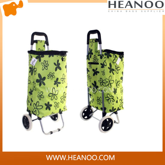 Custom Suppermarket Recyclable Foldable Non Woven Shopping Shopper Trolley Bag
