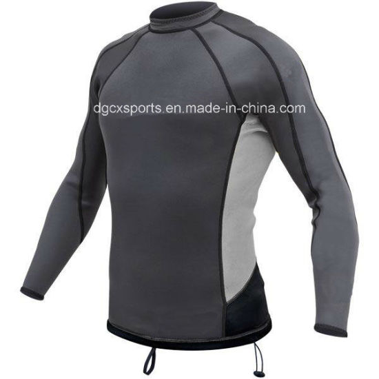 High Quality Breathe Lycra Rash Vest pictures & photos