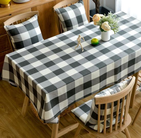 Black and White Whole Sale Cotton Table Cloth