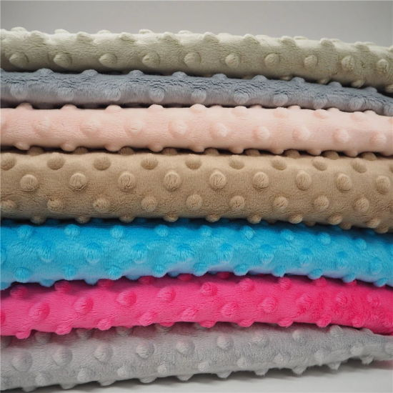 Super Soft Poly Embossed Baby Cuddle Bubble Minky DOT Plush Blanket Fabric