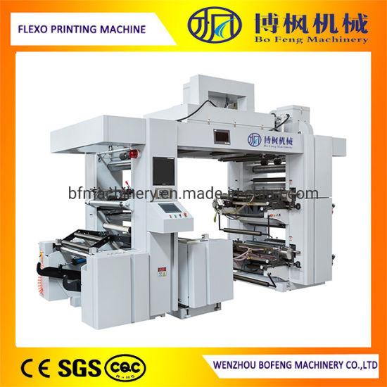 4 Color Plastic Film Flexographic Printing Machine with Belt Transmission