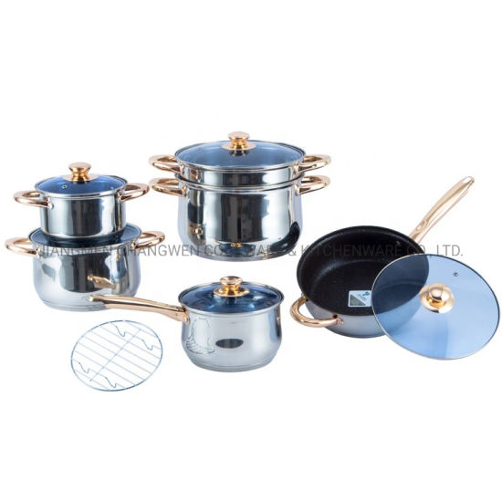 Hight Quality Ss Cookers Pot Multifunction Stainless Steel Belly Shape Induction Hot Pot Kitchen Ware Cooker