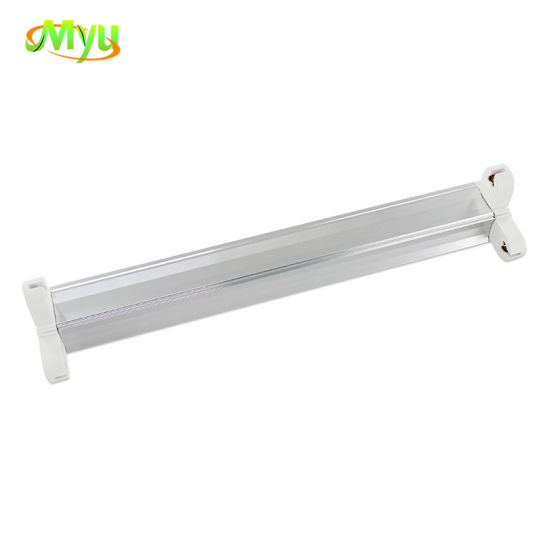 8W 16W T5 T8 Fluorescent Lighting Fixture Aluminum Bracket for Single Double Tube
