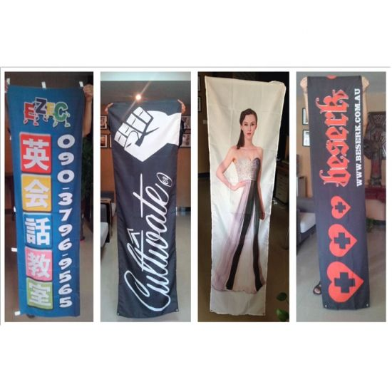 Wholesale Custom Large Size Hanging Polyester Fabric Outdoor Banner Printing