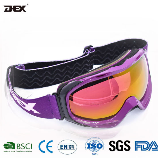 Factory OEM Wholesale Snowboard Glasses Outdoor Sports Mirrored Ski Goggles
