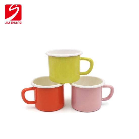 Enamel Tea Cup Coffee Cup with Customized Logo as Gift pictures & photos