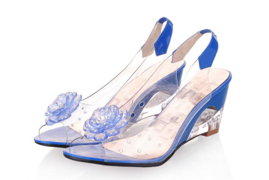 China Comfortable Office Ladies Dress Pumps Transparent Casual