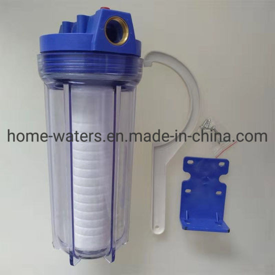 1/2'' Brass Pot Clear Water Filter Housing Color Box Packing Complete Set with Wrench