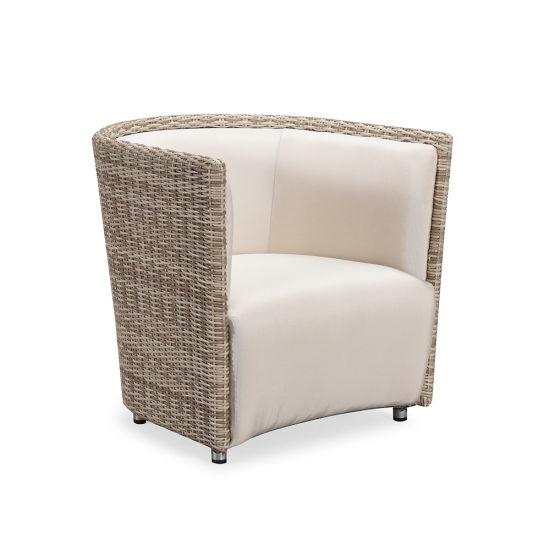 Plastic Weave Garden Rattan Double Sofa, Sunroom Wicker Furniture Sets
