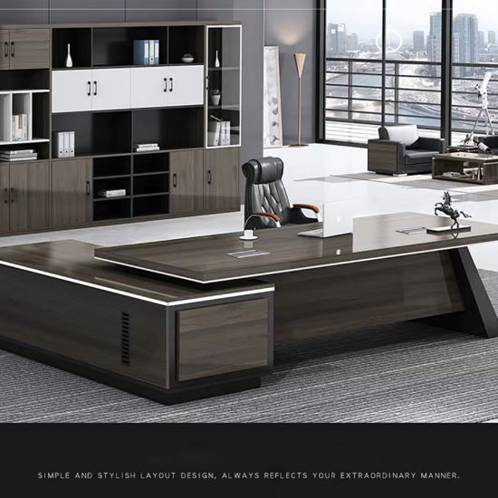 Luxury Wooden MDF Office Table Study Executive Office Table