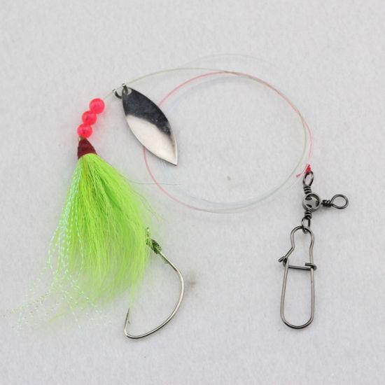 Bucktail Teaser Fishing Lures Saltwater Jigging Rig Sea Fishing Bait Accessories