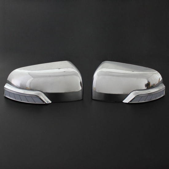 Hot Sale Chrome Door Mirror Cover with LED Light Car Accessories for Ranger 2012-2019