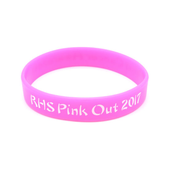 Fashion Personalized Debossed Color Filled Sports Custom Silicon Wristband pictures & photos