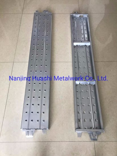 Wholesale Hook on Pre-Galvanized Perforated Deck Metal Construction Scaffolding Steel Plank