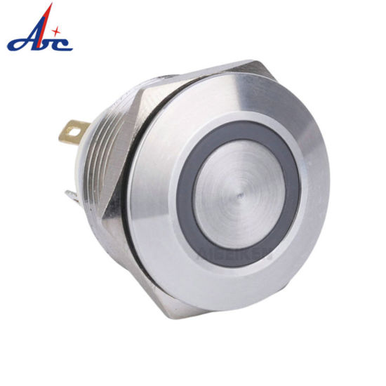 22mm Normally Open Momentary Ring Led 12V Push Button Switch