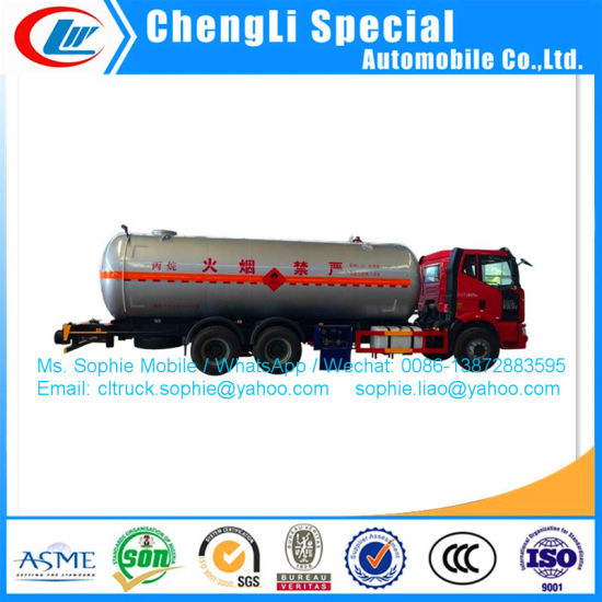 6X4 FAW 10ton Bulk LPG Tank Truck 24m3 LPG Trucks for Sale 220HP Refilling Truck Gas Delivery Truck Tank pictures & photos
