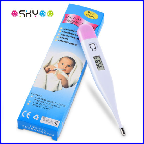 LCD Digital Electronic Flexible Baby Clinical Thermometer pictures & photos