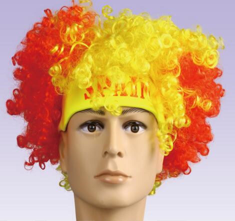 Crazy Soccer Accessories/ Fans Wig/ World Cup Wig