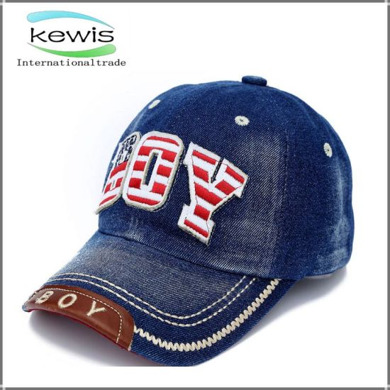 e31f52db3882f China Jean Material Custom Logo Promotional Baseball Cap - China ...