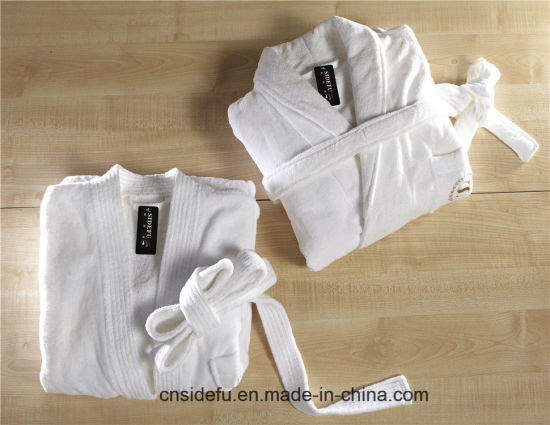 daf328aba5 Good Quality Velvet Velour Terry Hotel Bathrobe with Embroidered Logo  pictures   photos