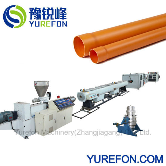 Plastic PVC Drainage Water Sewage Conduit Pipe Hose Tube Conical Twin Screw Extruder Extrusion Production Making Machine