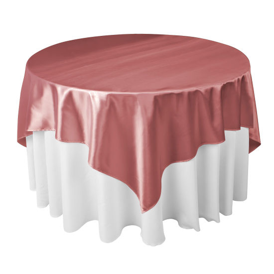 "Protex 60""X60"" Square Cheap Wedding Satin Table Overlay pictures & photos"