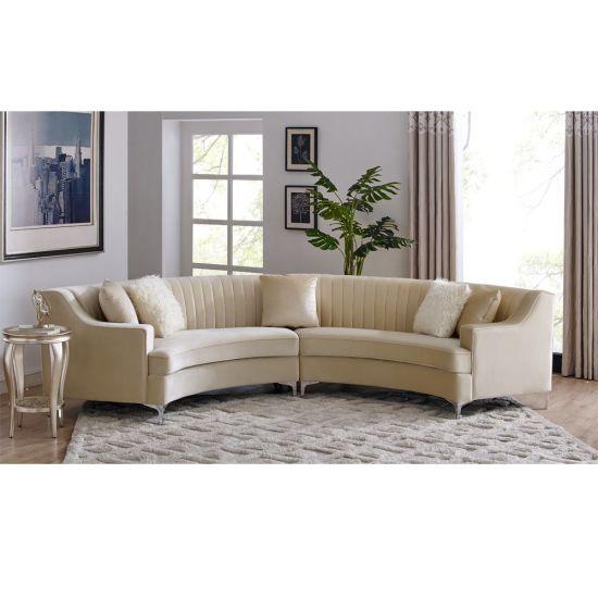 Wholesales Custom OEM/ODM Popular Luxury Modern Classic Design Leisure Living Room Fabric/Genuine Leather/Velvet/Linen Sofa for Home, Hotel