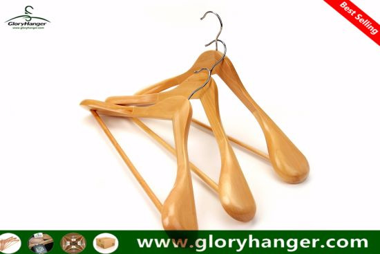 Luxury Hotel Wooden Coat Clothes Hanger for Garment Suit Clothing Display pictures & photos