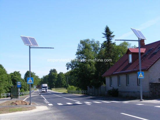 High Brightness 6m 30W Solar Street Lighting for Village Project pictures & photos