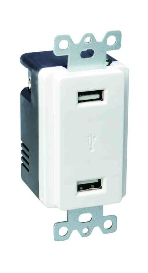 Huaya U001 4.2A 5V Two Port USB Receptacle UL Listed