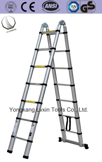 En131 Approved 5m Telescopic Ladder Attic Ladder Loft Ladder pictures & photos