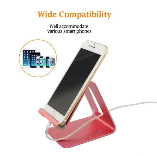 2017 Universal Wholesale Aluminum Alloy Black Foldable Desk Holder Metal Tablet Cell Phone Stand pictures & photos
