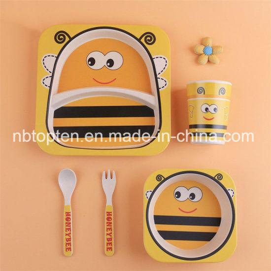 Bamboo Fiber Children Dinnerware Sets Window Box Packing  sc 1 st  Ningbo Topten Industry Co. Ltd. & China Bamboo Fiber Children Dinnerware Sets Window Box Packing ...