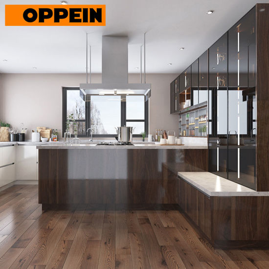 China Oppein Contemporary Kitchen Design With High Gloss