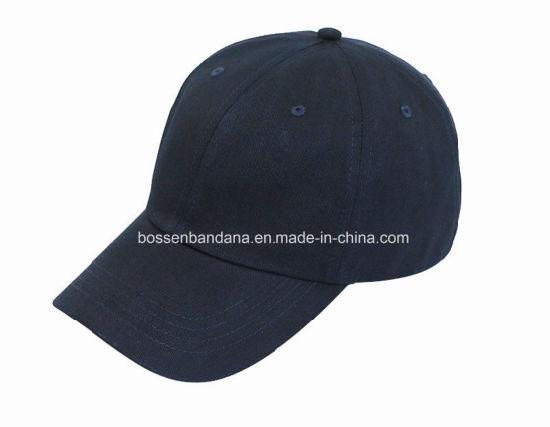 Factory Produce Customized Logo Black Cotton Sports Baseball Leisure Cap