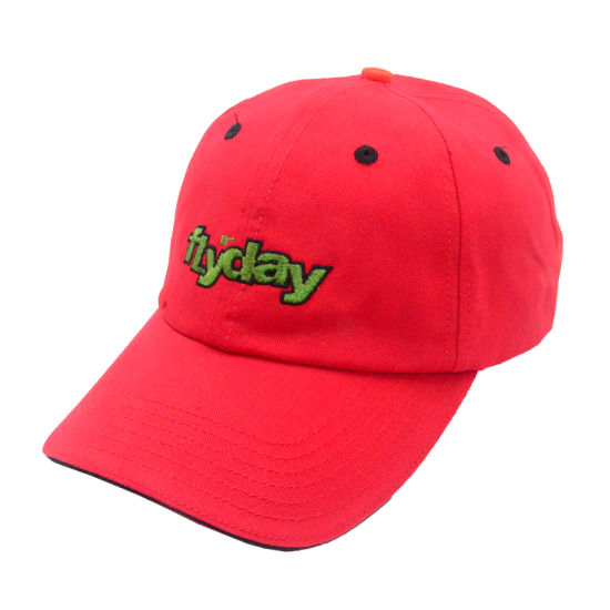 Customized Promotion Gift Red Sports Unstructured Baseball Cap Cotton Sun  Visor Dad Hats with 3D Embroidered Logo 5975ef8b5de9