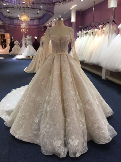Custom Made Lace Ball Prom Ladies Women Dresses Bridal Gown Wedding Dress Wgf1712-32 pictures & photos