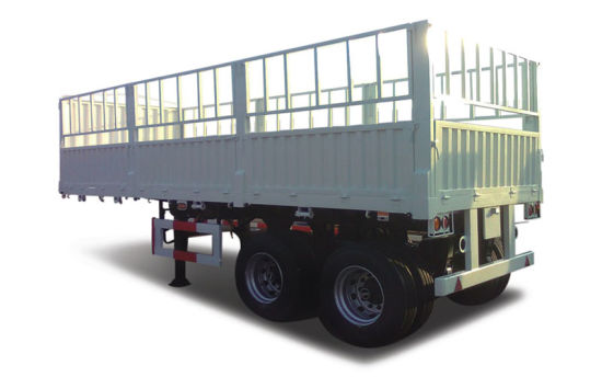 Side Wall Container and Logos Transport Flatbed Stake Semi Trailer pictures & photos